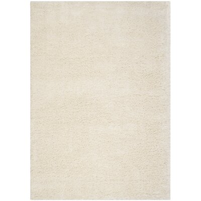 Pearl Shaggy White Area Rug Rug Size: 8 x 10