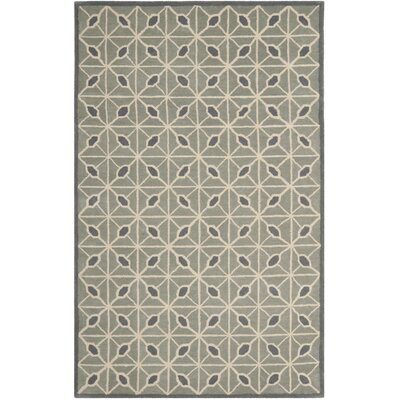 Dark Grey / Charcoal Geometric Rug Rug Size: Rectangle 5 x 8