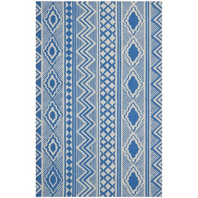 Blue Geometric Area Rug Rug Size: 4 x 6