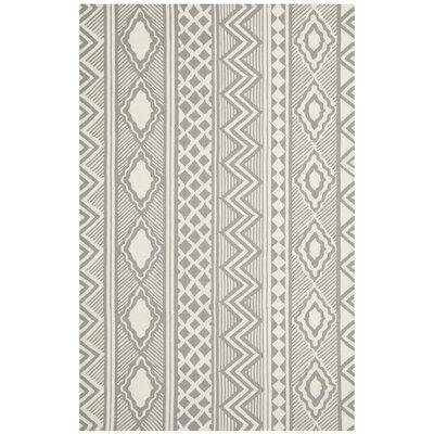 "Isaac Mizrahi Grey / Ivory Geometric Rug - Rug Size: Runner 2'3"" x 8' at Sears.com"
