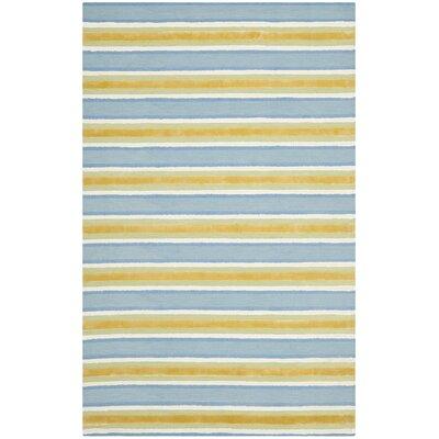 "Isaac Mizrahi Yellow / Blue Striped Rug - Rug Size: Runner 2'3"" x 8' at Sears.com"