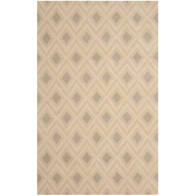 Beige/Grey Geometric Area Rug Rug Size: Rectangle 5 x 8