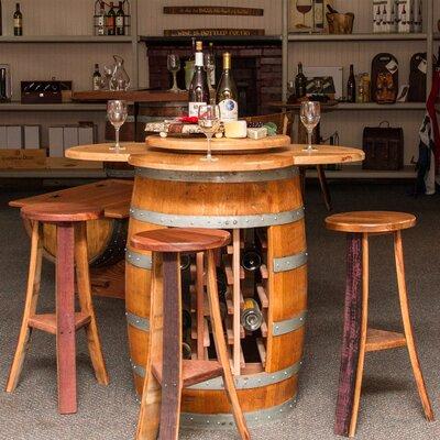 Wine Barrel 5 Piece Dining Set
