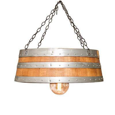 Top of the Barrel 1-Light Drum Pendant