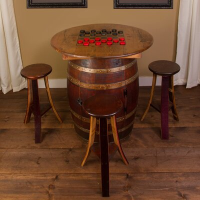 Whiskey Barrel 5 Piece Pub Table Set