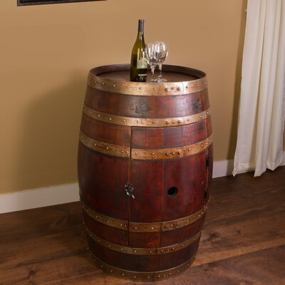 Wine Barrel Bar with Bar Cabinet
