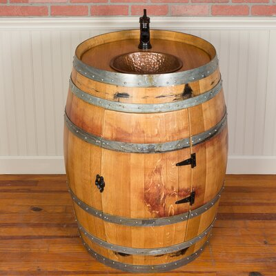 28 Single Wine Barrel Vanity Set