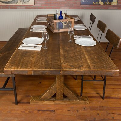 Reclaimed Wood Industrial Farm Harvest 30 Dining Table