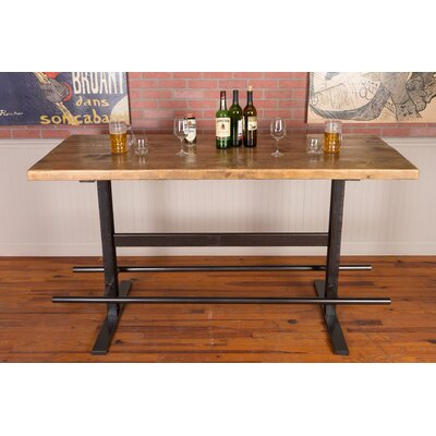 Industrial Iron and Reclaimed Wood Pub Table