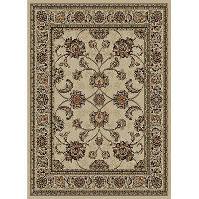 Royal Beige Area Rug Rug Size: 53 x 7