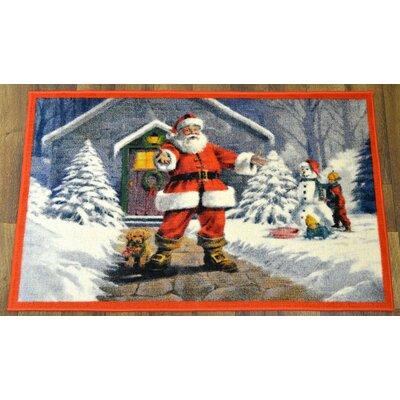 Santa Claus Christmas Mat