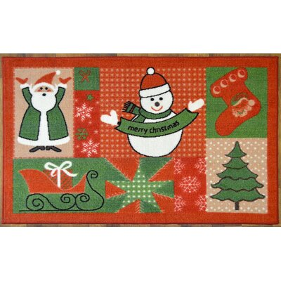 Holiday Spirit Christmas Mat