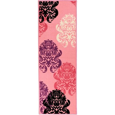 Ottomanson Pink Contemporary Area Rug - Rug Size: 3'3