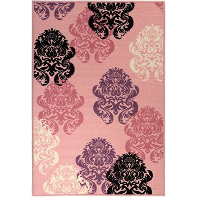 Pink Contemporary Area Rug Rug Size: 18 x 411
