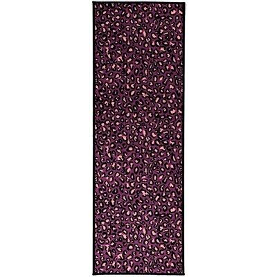 Pink Purple Animal Print Leopard Area Rug Rug Size: 33 x 5