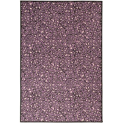 Pink Purple Animal Print Leopard Area Rug Rug Size: 18 x 411