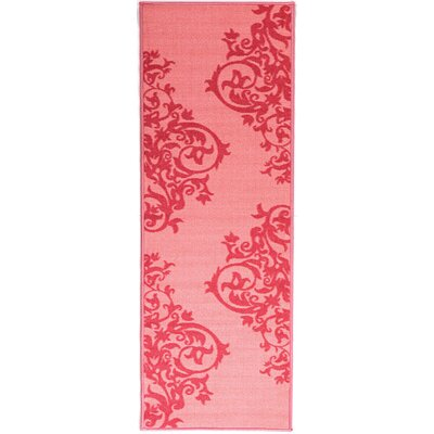 Pink Contemporary Scrolls Area Rug Rug Size: 18 x 411