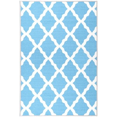 Glamour Machine Woven Blue Area Rug