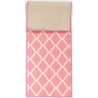 Pink Contemporary Pink Morroccan Trellis Area Rug Rug Size: 18 x 411