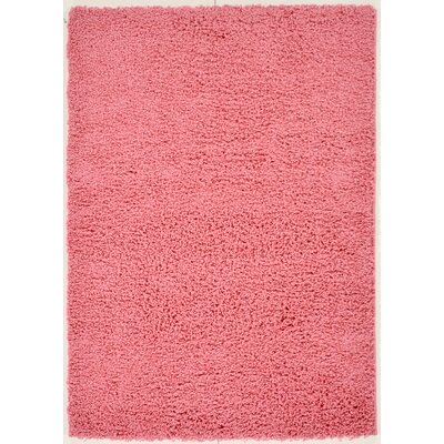 Ultimate Shaggy Pink Solid Area Rug Rug Size: 5 x 7