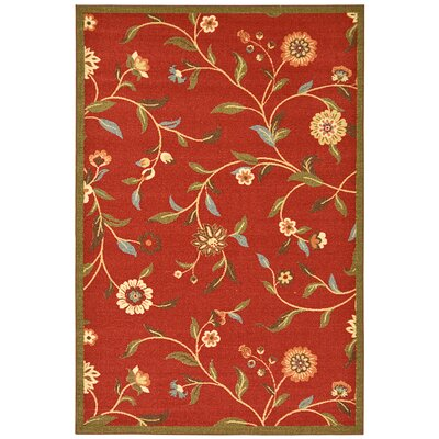 Bunyard Dark Red Area Rug