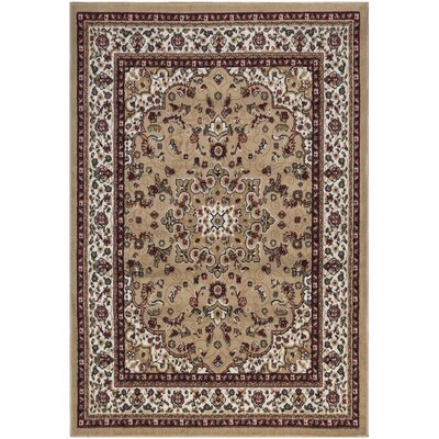 Paterson Beige Area Rug Rug Size: 710 x 910
