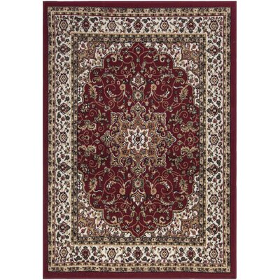Paterson Dark Red Area Rug Rug Size: 710 x 910