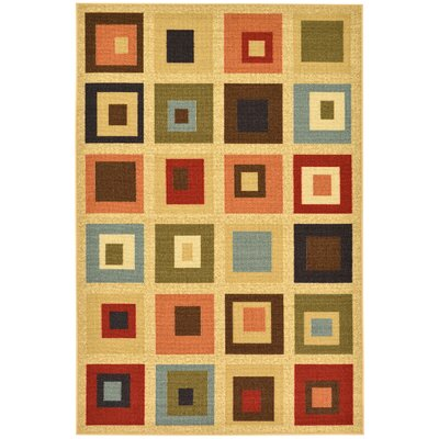 Galesburg Boxes Indoor/Outdoor Area Rug Rug Size: 5 x 66