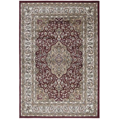 Regal Traditional Medallion Red Area Rug Rug Size: 710 x 106