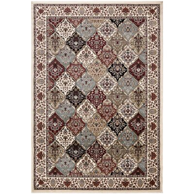 Regal Traditional Persian All-Over Pattern Beige Area Rug Rug Size: 4 x 6