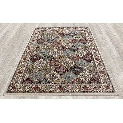 Regal Traditional Persian All-Over Pattern Beige Area Rug Rug Size: 710 x 106