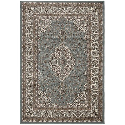 Regal Traditional Medallion Blue Area Rug Rug Size: 710 x 106