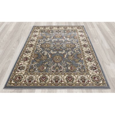 Regal Traditional Persian All-Over Pattern Blue Area Rug Rug Size: 710 x 106