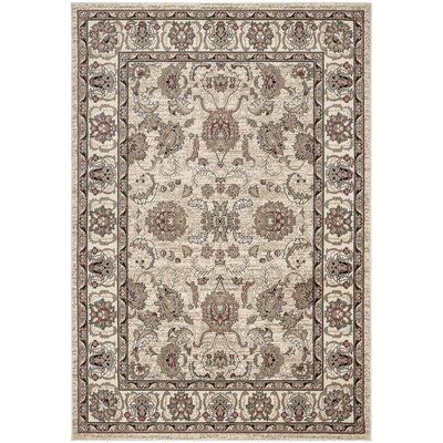 Regal Traditional Persian All-Over Pattern Beige Area Rug Rug Size: 53 x 77