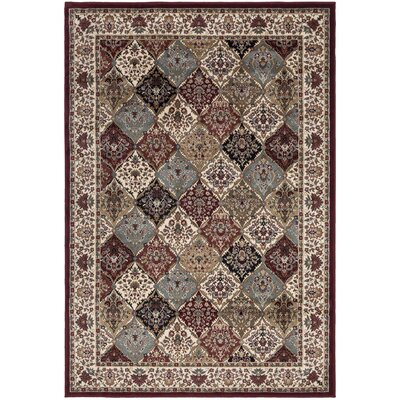 Regal Traditional Persian All-Over Pattern Red Area Rug Rug Size: 53 x 77