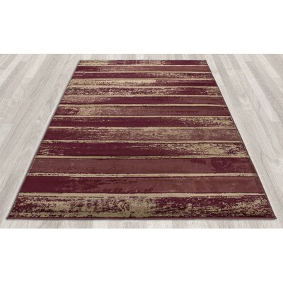 Regal Contemporary Abstract Red Area Rug Rug Size: 710 x 106