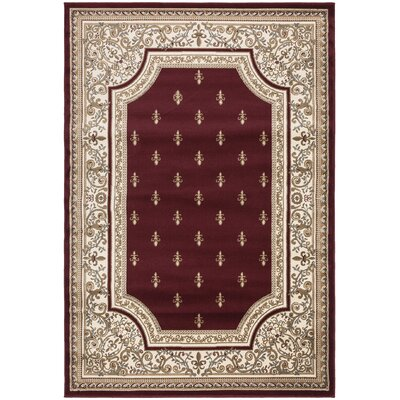 Regal Traditional European Red Area Rug Rug Size: 710 x 106