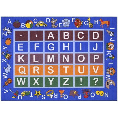 Childrens Educational Blue Area Rug Rug Size: 710 x 910
