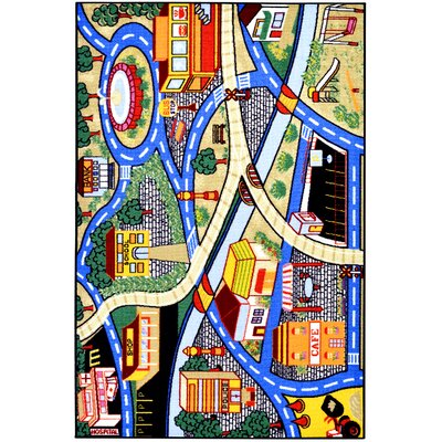 Childrens City Streets Area Rug Rug Size: 5 x 66