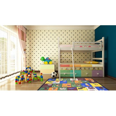 Babies Childrens Educational Area Rug Rug Size: 5 x 66