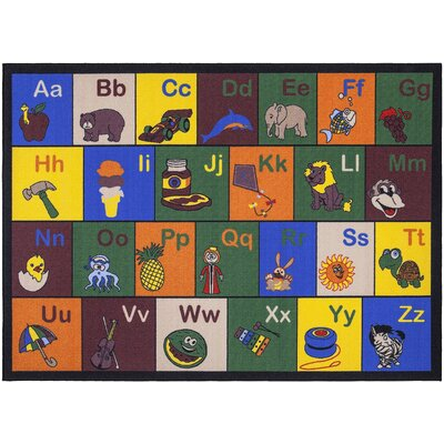Babies Childrens Educational Area Rug Rug Size: 710 x 910