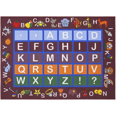 Childrens Educational Area Rug Rug Size: 710 x 910