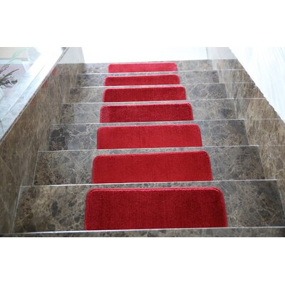 Red Stair Tread