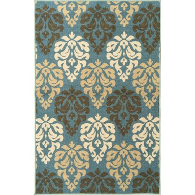 Ryan Damask Design Sage Blue Area Rug Rug Size: 3 x 5