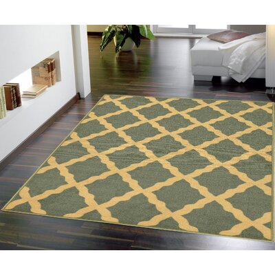 Bunyard Moroccan Trellis Design Sage Green Area Rug Rug Size: 8 x 10
