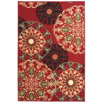 Galesburg Oriental Design Dark Red Area Rug Rug Size: 5 x 7