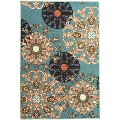 Galesburg Oriental Design Blue Area Rug Rug Size: 33 x 48