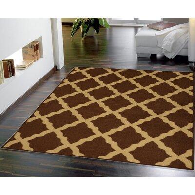 Bunyard Moroccan Trellis Design Chocolate Area Rug Rug Size: 5 x 7