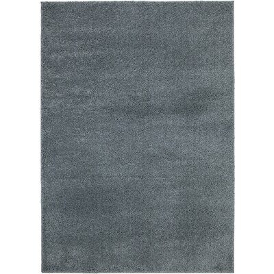 NEW Shag Solid Grey Area Rug Rug Size: 5 x 7