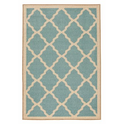 Prestige Moroccan Trellis Design Blue Area Rug Rug Size: 33 x 5